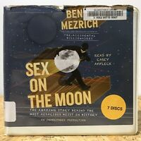 Sex on the Moon by Ben Mezrich Ex Library 7 CD Unabridged Audiobook Free US Ship