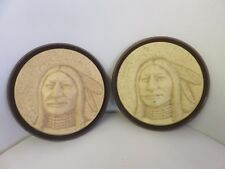 St Labre Indian School Montana Plastic Plaques Native American Religious Vintage