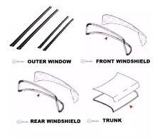 Mercedes W123 C113 Coupe Seal Kit 7 Pcs Door Window Trunk Windshield