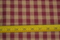 """By 1/2 Yd, 58"""" Wide, Cranberry & Tan 1/2"""" Gingham Cotton, M7818"""