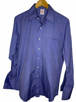 Brooks Brothers Men's French Cuff Blue Point Collar Classic Fit Shirt 15/38