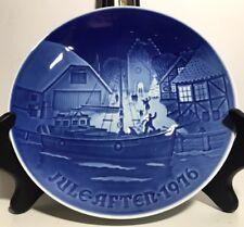 Vtg Jule After 1976 Christmas Welcome Royal Copenhagen B & G Collector Plate Euc