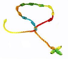 4030570 Set of 3 Rainbow Decenario Pulseras Knotted Thread Cross Bracelet
