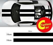 car race racing track stripe pair 10cmX500cm multi color vinyl decal
