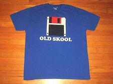 """OLD SKOOL"" Floppy Disk T-Shirt, Men's Size XL, Blue, Walnut & 39th Design Tee"
