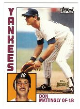 2012 TOPPS ARCHIVES # 8 DON MATTINGLY ROOKIE 1984 REPRINT