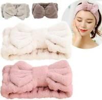 Big Bow Facial Wash Face Bath Shower Makeup SPA Hair Band Elastic Headband AU