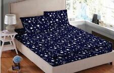 Montisa Glace Cotton King Size Double Bedsheet With 2 Pillow Cover Multi