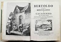 Settecentina Illustrato Bertoldo con Bertoldino e Cacasenno in ottava rima 1736