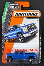 2014 Matchbox #118 2014 Chevy® Silverado™ 1500 BLUE TOPAZ METALLIC / MOC