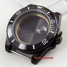 40mm sapphire glass ceramic bezel PVD Watch Case fit eta 2824 2836 MOVEMENT