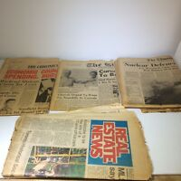 The Guardian, Chronicle, & Edmonton Journal NEWSPAPER 1967 CANADA lot of 4