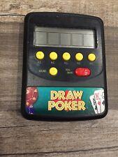 WACO draw poker handheld game video toy electronic RARE