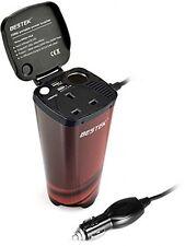 BESTEK 200W Car Power Inverter DC 12V To 230V AC 3-in-1 Cigarette Lighter + AC
