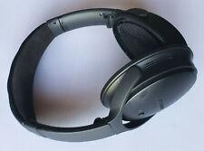 Black Bose QC35 On-Ear Wireless Headphones -Works but has WEAR & MISSING PADS
