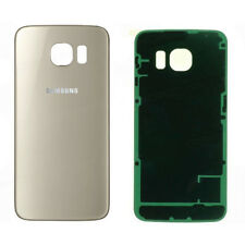 Vitre  Arriere / Cache Batterie Samsung Galaxy S 6 - Or - Adhesif Inclus