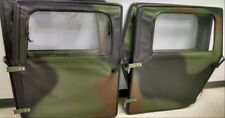 NEW HUMVEE 4 MAN CAMO SOFT TOP DOOR SET M998 HUMMER 4 DOORS W/ HANDLES & HINGES