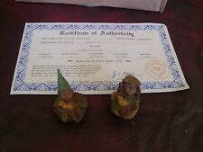 Cairn Studio Tom Clark - Gnome Darcy and a friend With COA for darcy