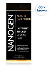 Nanogen Thickening Hair Fibres Dark Brown 15g (1 months supply) Natural Keratin