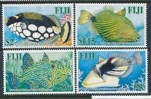 2005 FIJI TRIGGER FISH SET OF 4 FINE MINT MNH