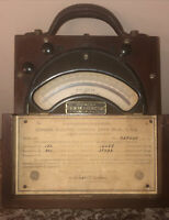 General Electric Co. Direct Current Voltmeter Type DP2#928347 PAT.1918 WOOD CASE