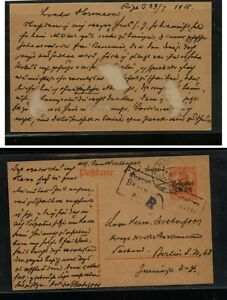 Lithuania  German occupation  postal card to Berlin  1918            MS0605