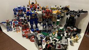 Large 1990's Power Rangers Megazord LOT Lost Galaxy ZEO Bandai AS-IS Vintage