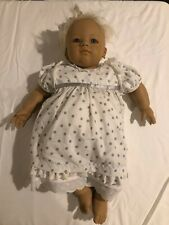 """Annette Himstedt Barefoot Babies """"Annchen"""" Original Tagged Clothes and Box, Coa"""