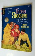 The Three Stooges It's a Blast Moon Monsters!  Comic July 1966 No. 29 Gold Key