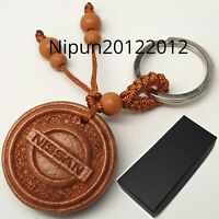 Nissan wooden Key Ring keyring fob chain case holder Wood Oil Finish