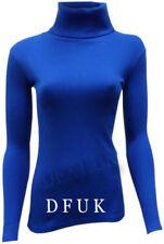 Jersey de mujer de color principal azul 100% algodón