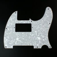 Custom guitar Pickguard For Tele Humbucker Cut-out style ,4ply White pearl