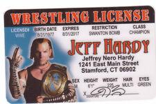 Jeff Hardy Professional Wrestling Wrestler WCW WWF WWE Drivers License ID card