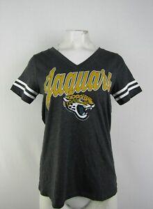 Jacksonville Jaguars NFL Team Apparel Women's Gray V-Neck Shirt