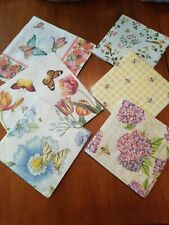 Set of 18 Paper Napkins Art, Decoupage, Crafts, Scrap Booking Birds Bees