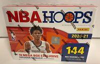 🔥 New 2020-2021 Panini NBA Hoops Basketball 144-Card Mega Box - Lamelo? Auto?🏀