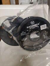 2.85mm/3mm PLA 3D printer filament lot Dark Gray/Black Hatchbox + Amazon 2 Rolls