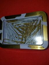 Cynthia Rowley Gold, White Large Paper Clips, Metal Storage Tin, 50 Count, 26912