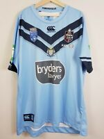 NSW BLUES Canterbury Mens Size 4XL State of Origin 2019 Rugby League Jersey