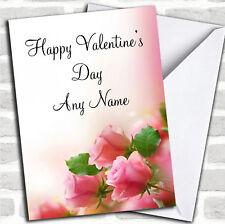 Rosa Suave Hermoso Pastel Rosas Día De San Valentín Día de San Valentín Tarjeta Personalizada