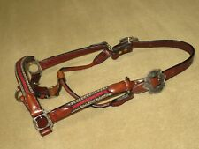 NWOT Vintage Silver Royal CIRCLE Y Show Halter with HORSE HAIR & ALPACA SILVER