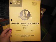 International Harvester Tractor I + T Shop Tech Manual Series 340 Diesel,  IH-19