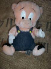 "Vintage 24K Porky Pig Plush 10"" tall Warner Bros Looney Tunes 1993"