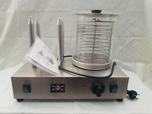 Hot Dog Maker Gerät Würstchenwärmer Bockwurstwärmer mit Glas