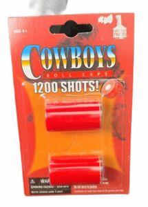 COWBOYS-1200 Shots 100 Shots Per Roll. 6 Rolls Per Tube,for Toy Cap Gun  New