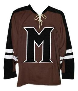 Any Name Number Mystery Alaska Retro Custom Hockey Jersey Burns Brown