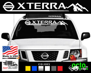 fits nissan xterra emblem windshield decal sticker headlights accessories hood