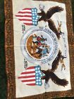VTG 1776-1976  AMERICAN BICENTENNIAL CELEBRATION WALL TAPESTRY 52x36 Inches