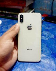 Apple iPhone X - 256GB - Silver (Unlocked) A1901 (GSM)