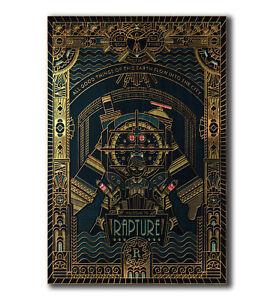 Hot Gift Poster Bioshock Rapture Custom Hot Video 40x27 30x20 36x24 F-164